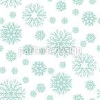 Schönheit der Schneeflocken Nahtloses Vektormuster