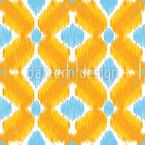 Ikat dos anos sessenta Design de padrão vetorial sem costura