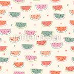 Wir lieben Wassermelonen Nahtloses Vektormuster