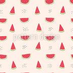Süsse Wassermelonen Nahtloses Vektor Muster