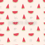 Sweet Watermelons Seamless Vector Pattern