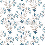 Small Indian Flowers Vector Pattern