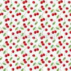 Cherries Subject Seamless Vector Pattern Design