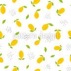 Strahlende Zitronen Nahtloses Vektormuster