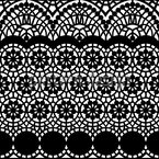 Alhambra Black Seamless Vector Pattern Design