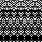 Alhambra Schwarz Nahtloses Vektormuster