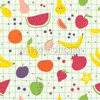 Gemalte Früchte Nahtloses Vektor Muster