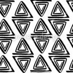 Dreieckige Spirale Nahtloses Vektormuster