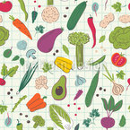 Painted Vegetables Pattern Design
