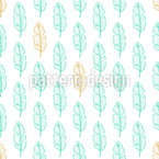 Feather Or Leaf Outlines Pattern Design