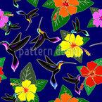 Kolibri und Hibiskus Nahtloses Muster