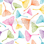 Colorful Ginkgo Leafs Seamless Vector Pattern