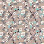Blossom Of A Tree Seamless Vector Pattern Design