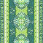 Indische Mandala Bordüre Nahtloses Vektormuster
