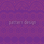 Alhambra Purple Seamless Vector Pattern