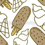 Cold And Tasty Seamless Vector Pattern Design