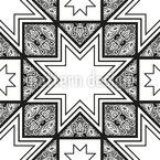 Lattice Star Seamless Vector Pattern Design