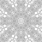 Kaleidoskopische Umrisse Nahtloses Vektormuster