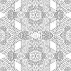 Kaleidoskopische Rauten Nahtloses Vektormuster