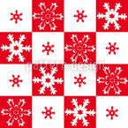 Little Snow Flakes Seamless Vector Pattern Design