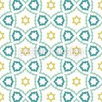 Mosaico Caleidoscópico Design de padrão vetorial sem costura