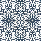 Abstract Passion Flower Pattern Design