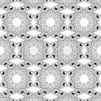 Mosaico de contorno caleidoscópico Design de padrão vetorial sem costura
