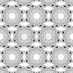 Kaleidoscopic Outline Mosaic Seamless Vector Pattern