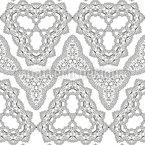 Formas de contorno caleidoscópico Design de padrão vetorial sem costura