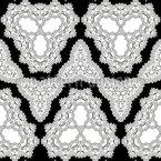Kaleidoskopische Ausmalformen Nahtloses Vektormuster