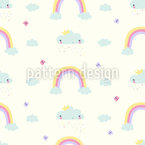 Clouds And Rainbow Pattern Design