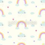 Wolken Und Regenbogen Musterdesign