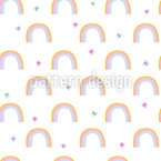 Butterfly And Rainbow Design Pattern