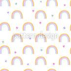 Schmetterling Und Regenbogen Nahtloses Vektormuster