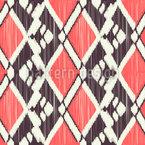 Strukturiertes Ikat Nahtloses Vektor Muster