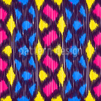 Funky Ikat Vektor Muster
