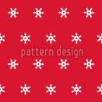 Snow Flakes White Seamless Vector Pattern Design