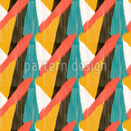 Ikat Abstraction Repeat Pattern