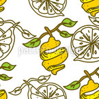 Lemon Peal Vector Pattern
