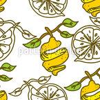 Zitronenschale Vektor Muster