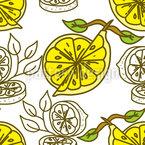 Lemon Cut Seamless Vector Pattern Design