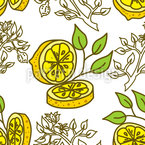Lemon Piece Repeating Pattern