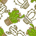 Spiky Cacti Seamless Vector Pattern Design