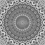 Mandala Of Dots Seamless Vector Pattern Design