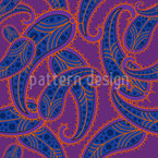 Radiant Paisley Seamless Vector Pattern Design