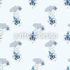 Regentropfen Fallen Aus Wolken Nahtloses Vektormuster