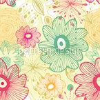 Naive Blumen Nahtloses Vektormuster