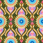 Oriental Sunflowers Design Pattern