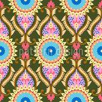 Orientalische Sonnenblumen Nahtloses Vektormuster