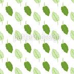 Tropisches Blatt Nahtloses Vektor Muster
